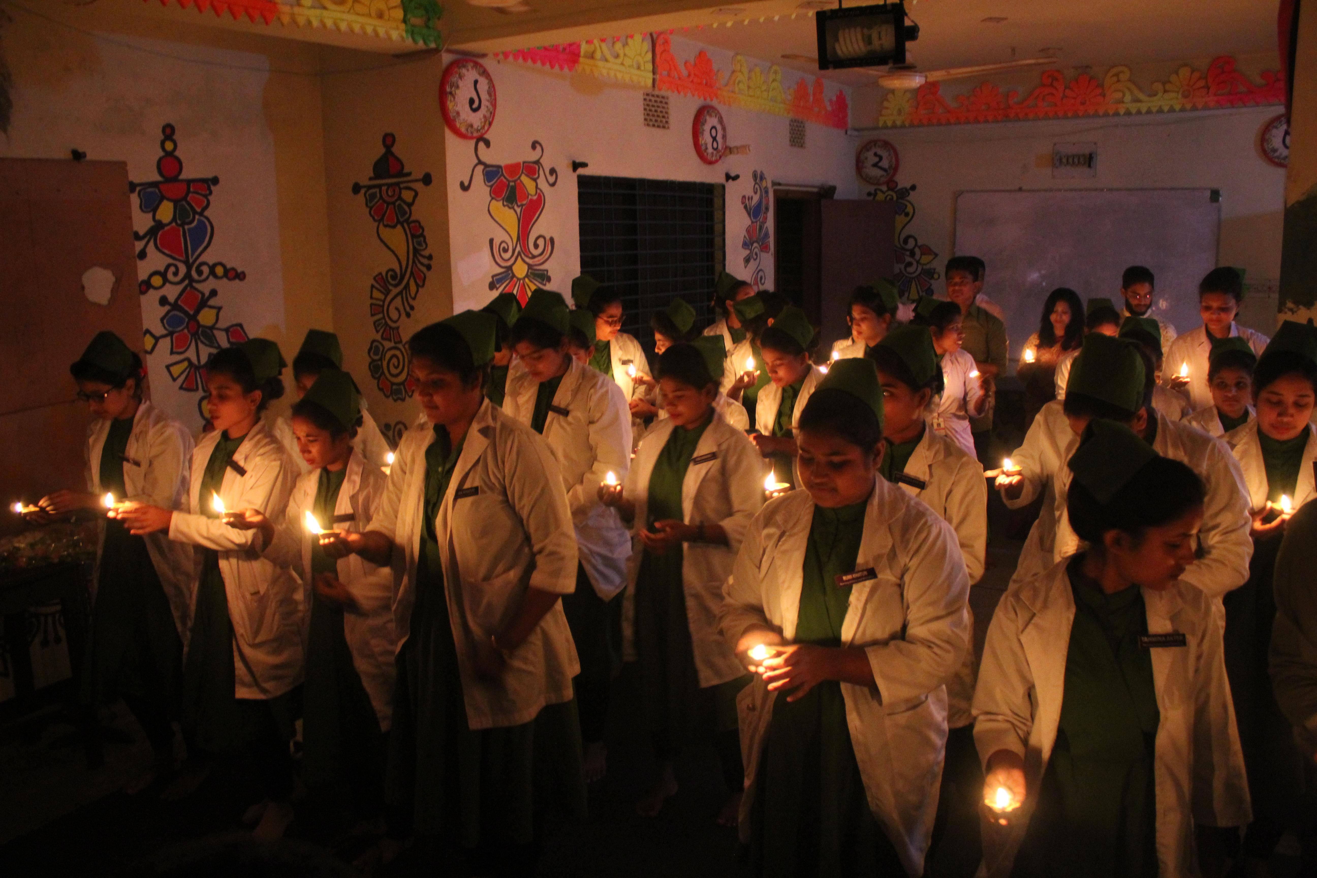 গুরুকুল নার্সিং এর শিক্ষার্থীদের শপথ গ্রহন অনুষ্ঠান-Oath taking ceremony of Gurukul Nursing students